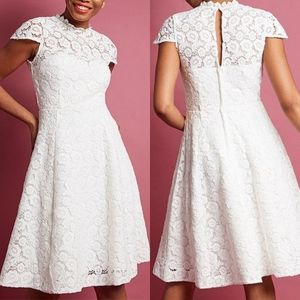 Modcloth White Lace Happily Ever A Line Dress NEW